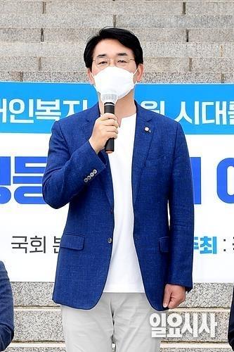 가장 먼저 대선 출마를 공식화한 박용진 더불어민주당 의원 ⓒ박성원 기자