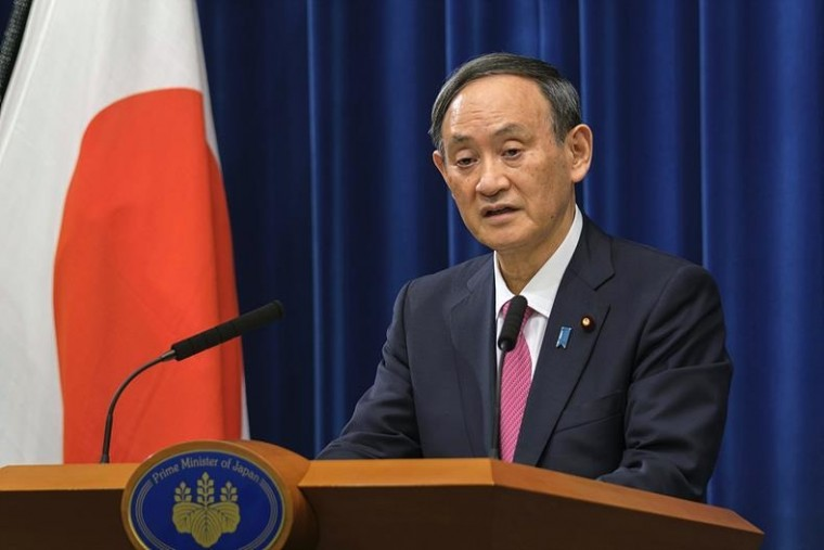 스가 일본 총리 ⓒ뉴시스
