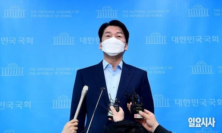 16일, 대선 출마 뉘앙스 기자회견을 가졌던 안철수 국민의당 대표 ⓒ고성준 기자